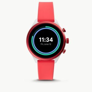 NIB Fossil Sport Smartwatch FTW6027 Red/Coral